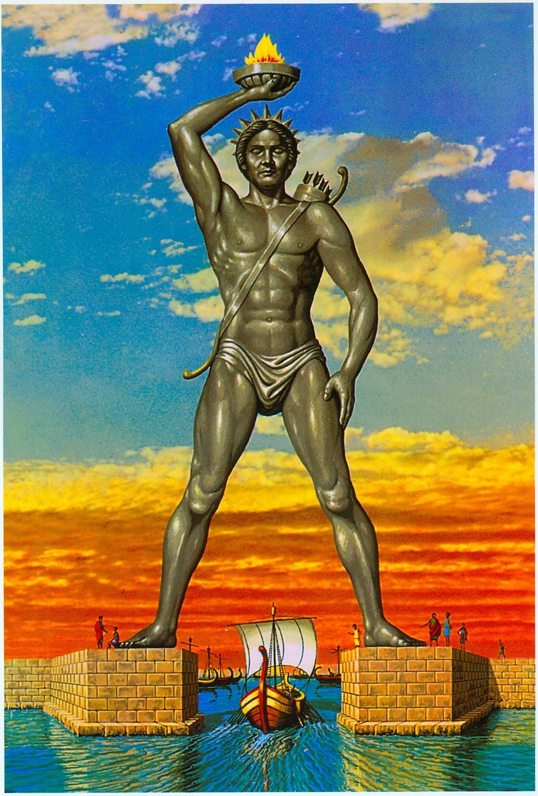 Fun facts and images of the colossus of rhodes seven for Interesting art pictures
