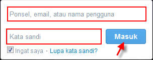 login masuk membuka twitter
