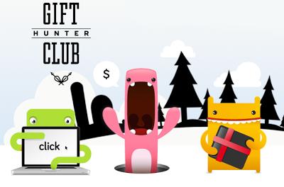 Registrate en el club de cazadores de regalos para conseguir dinero