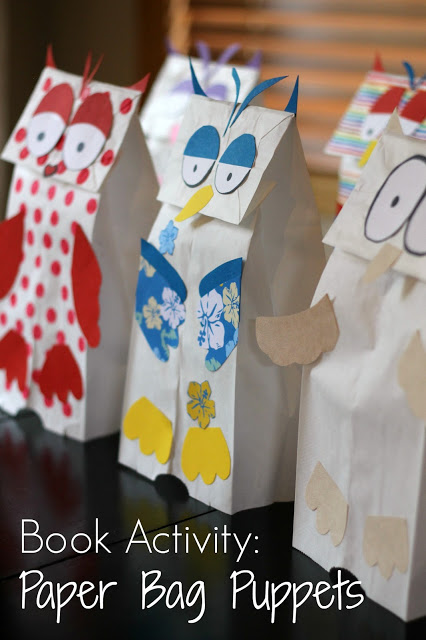 http://www.readingconfetti.com/2013/07/little-white-owl-paper-bag-puppets-book.html