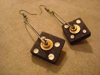Wooden Domino Tile Earrings by hotGlued