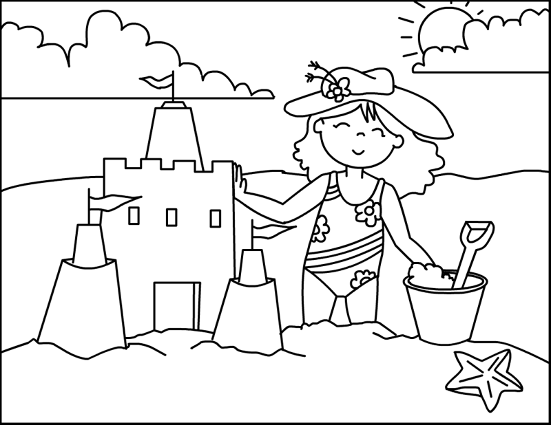 Dibujos de verano para colorear portal de manualidades for Summer pictures for kids to colour