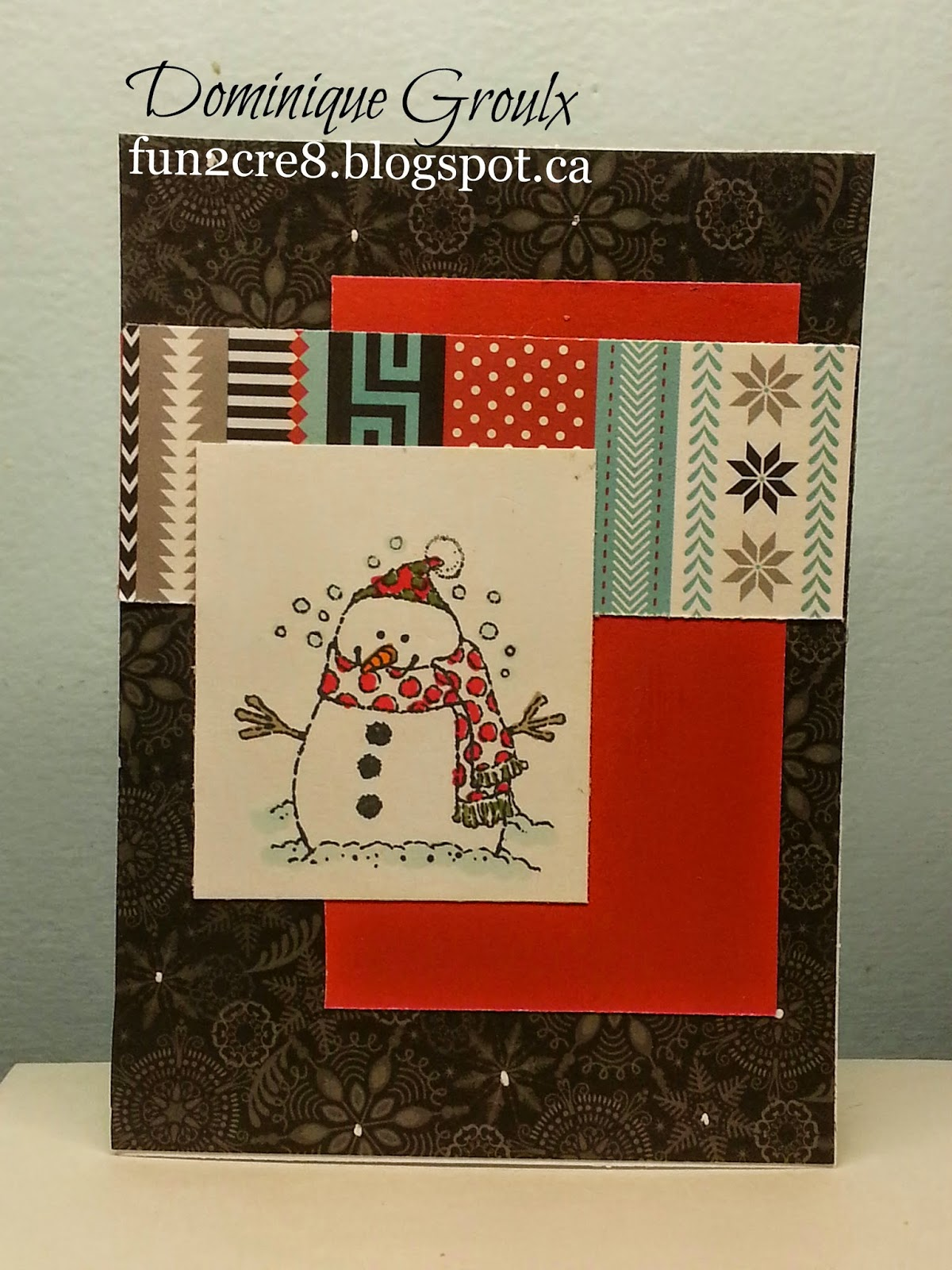 CTMH snowhaven snowman card