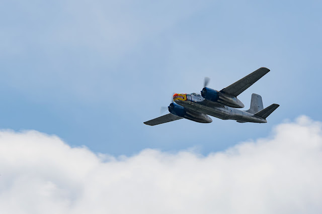 "Douglass A-26B Invader, known as ""Silver Dragon"", over DC"
