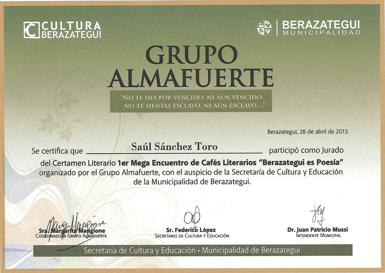 Jurado Grupo Almafuerte