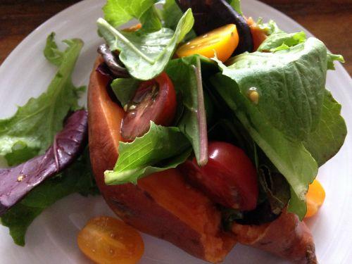 Salad Stuffed Sweet Potato - Kim's Welcoming Kitchen