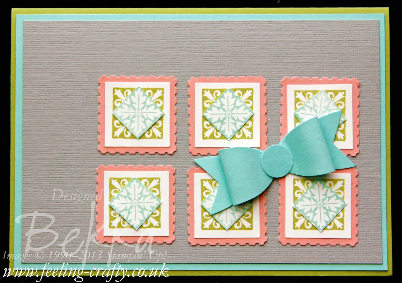 Hello Lovely Bow Card with a tutorial on how to make the bow - check it out!