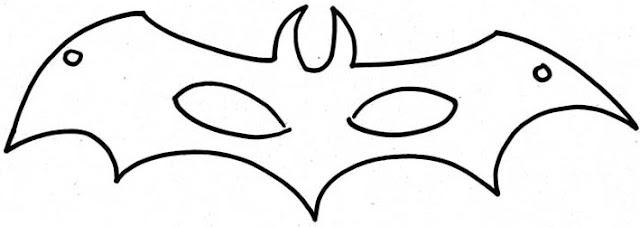 Free Batman Mask Coloring Pages