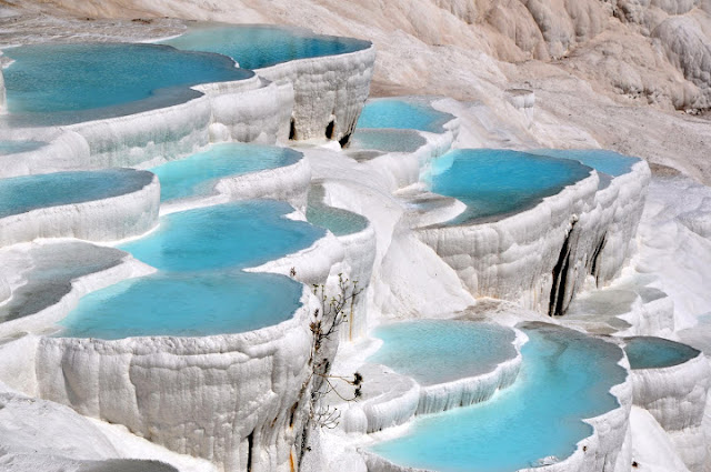 شلالات باموكالي Pamukkale بتركيا
