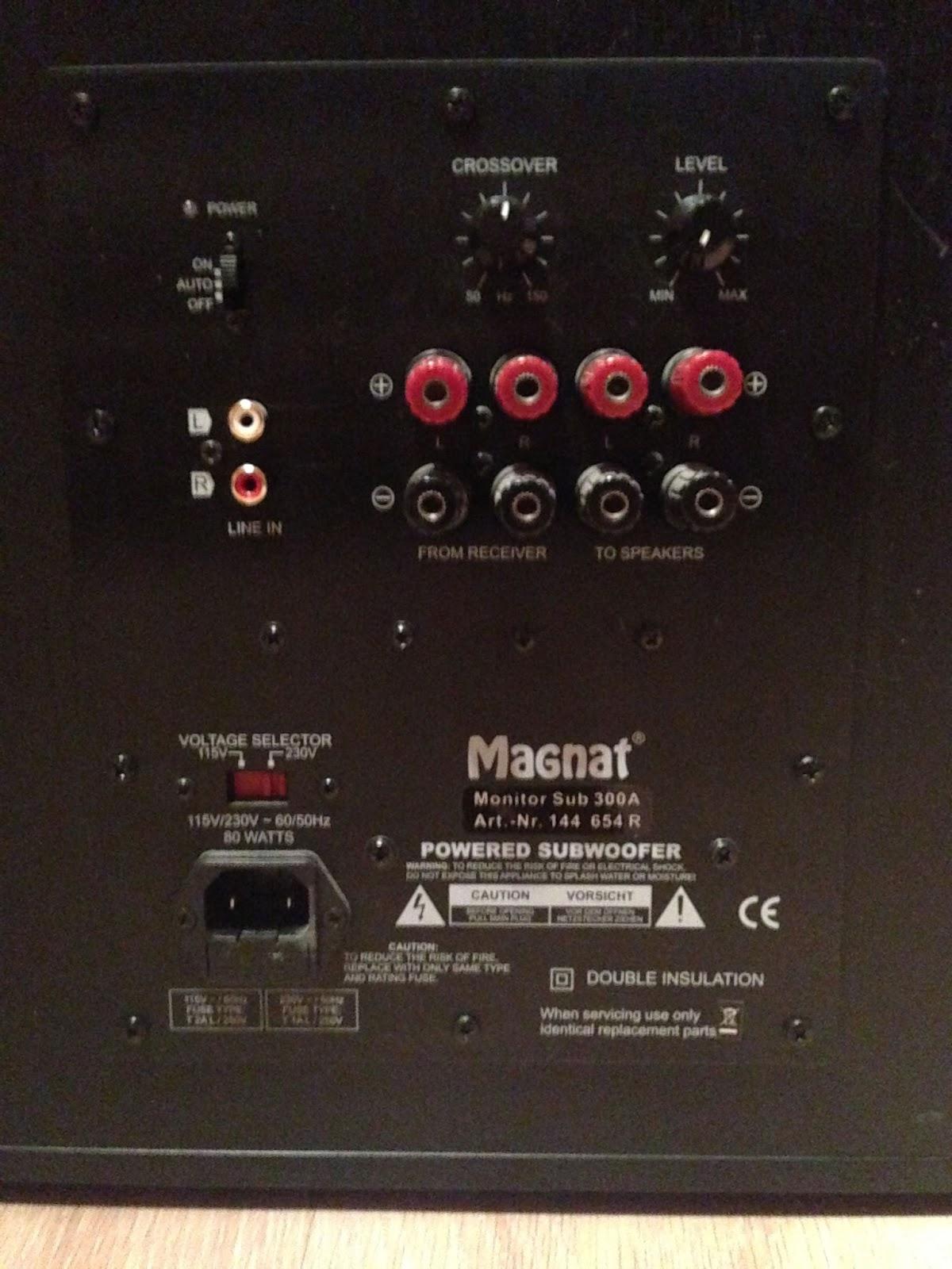 Magnat Monitor Sub 300a Active Subwoofer Audiobaza