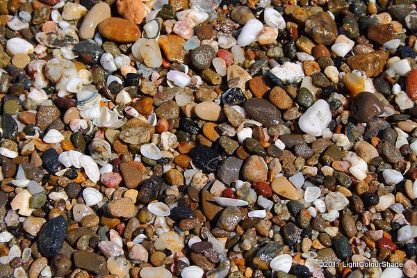 Mediterranean beach pebbles