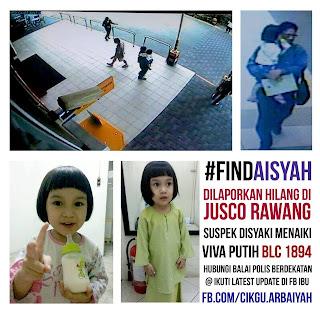 missing kid Aisyah