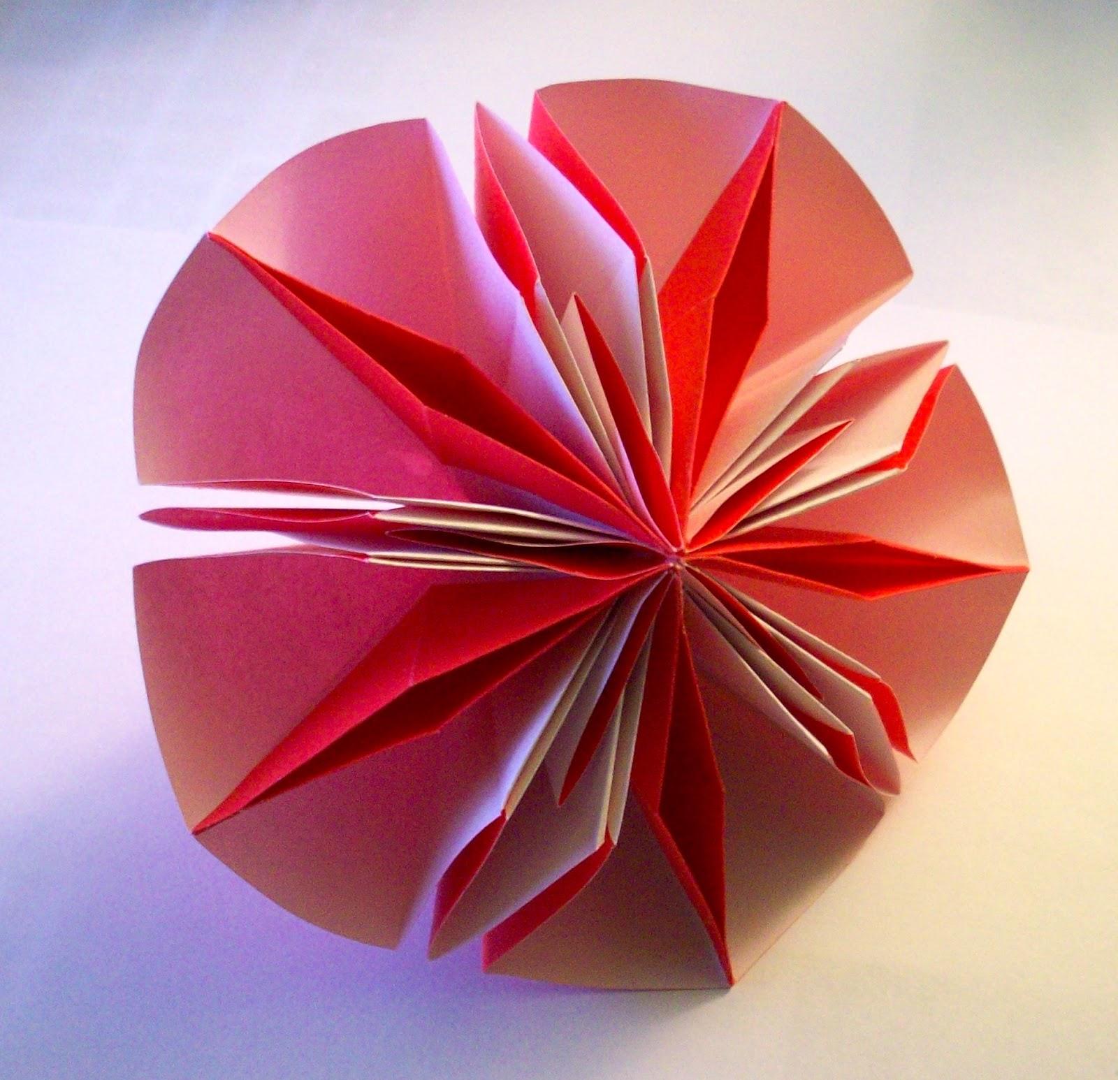 Curiosity Blogged The Kat Origami Diamond Flower