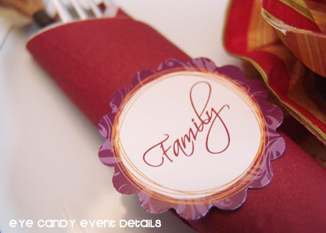 thanksgiving toppers as napkin wrap, thanksgiving table, napkin