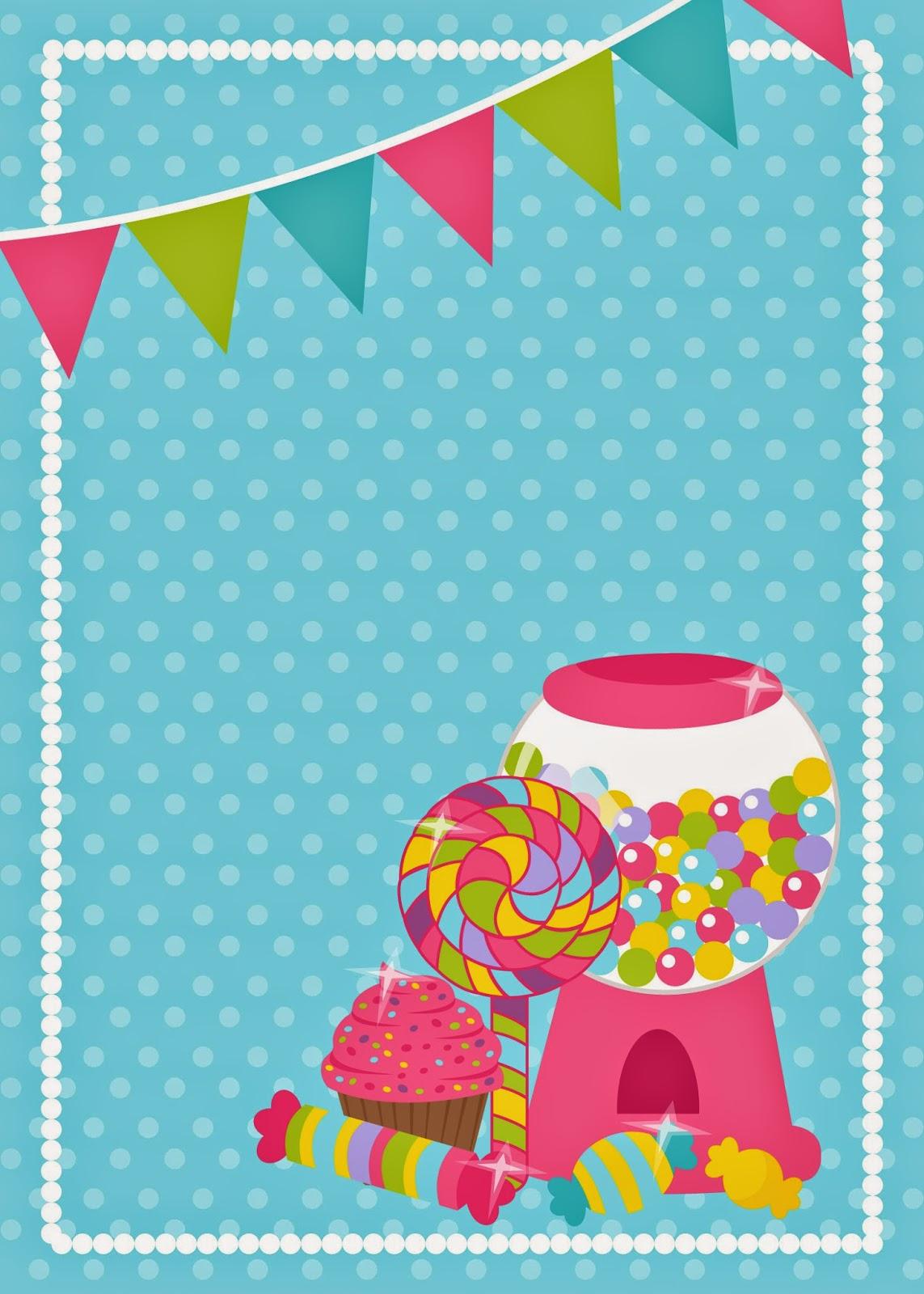 help festas e personalizados convites prontos candy party