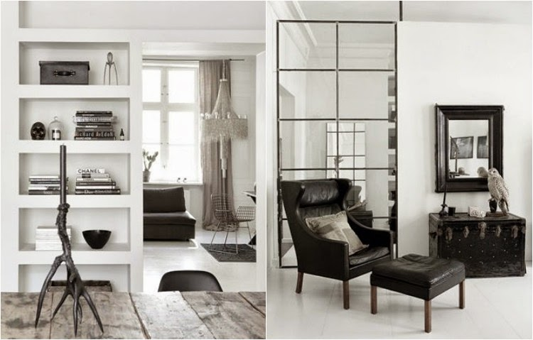 A touch of luxe: nordic home in grey, black and white...