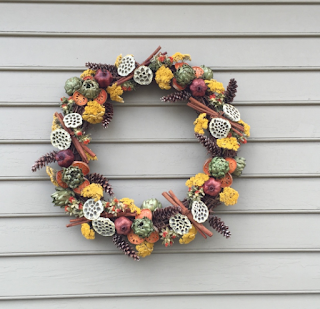 dried flowers, dried cinnamon, natural decorations, colonial decorations, colonial christmas, Colonial Williamsburg