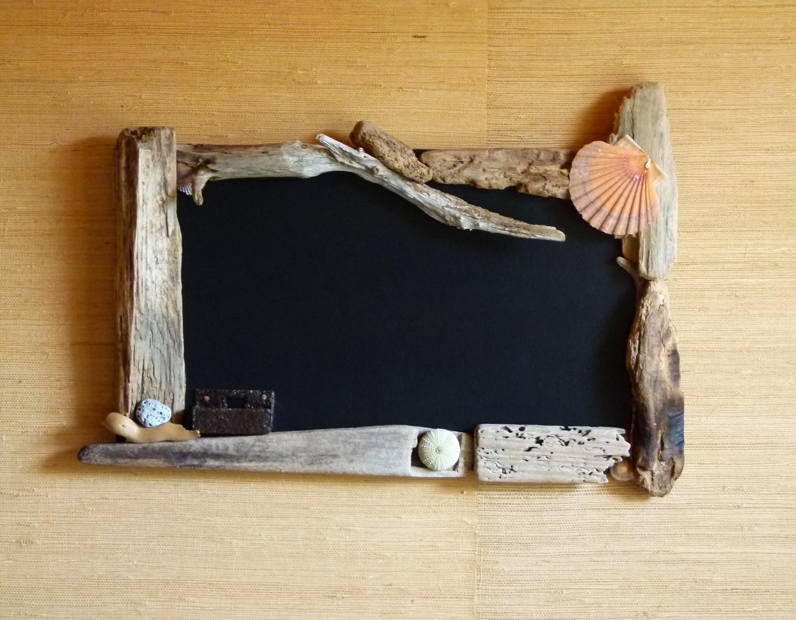 En fer de bois tableau avec encadrement en bois flott for Tableau bois flotte
