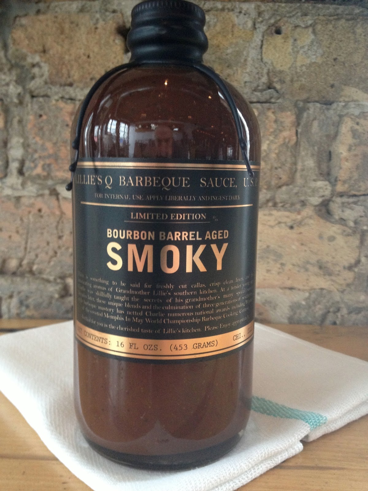 Pix724: Limited edition Lillie's Q Bourbon Barrel Aged Smoky BBQ sauce ...
