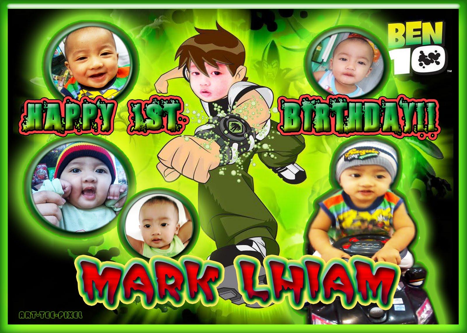 Ben 10 Tarpaulin and Invitation on 1st Birthday