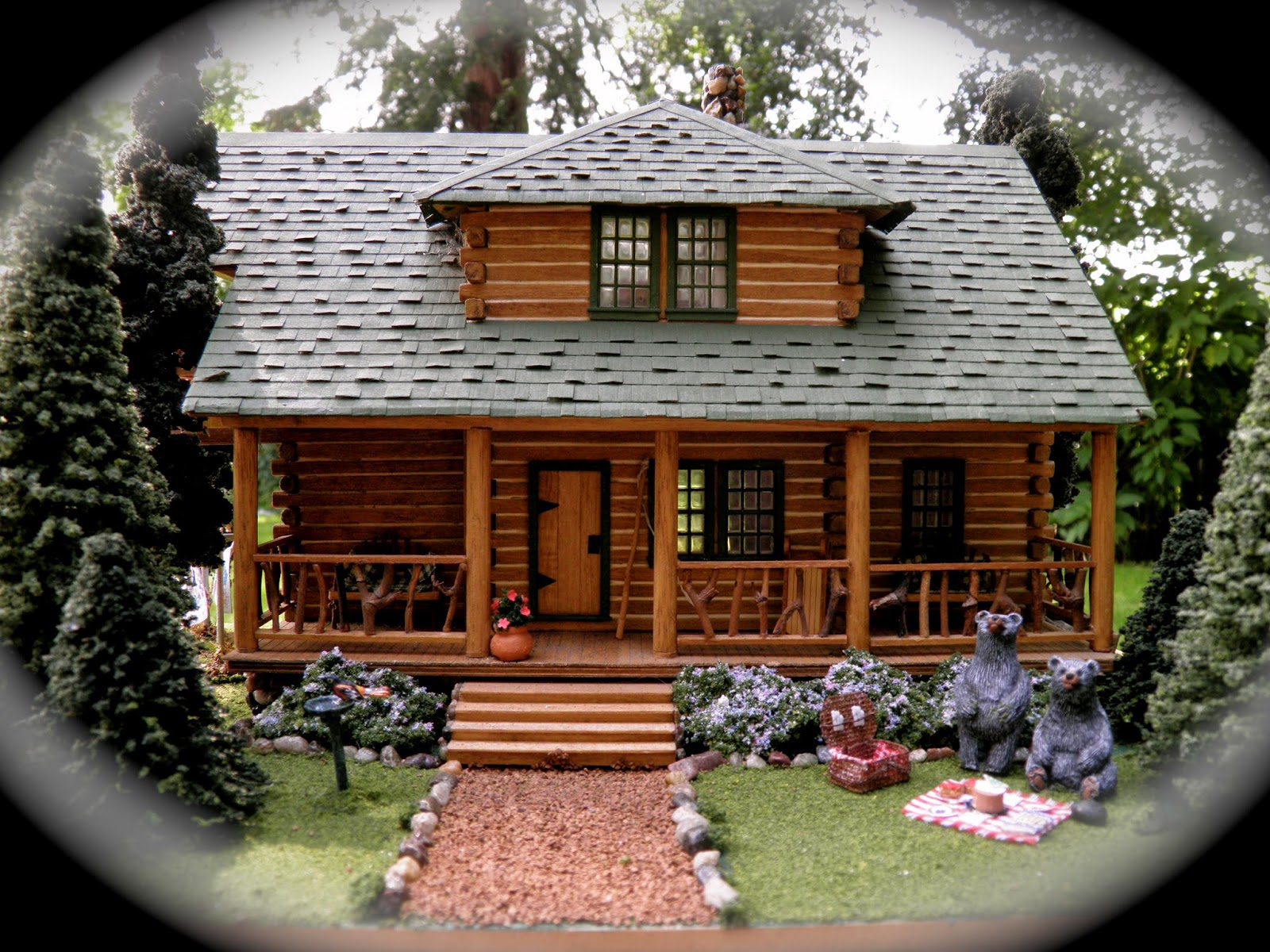 theweetinker: Log Cabin in Miniature