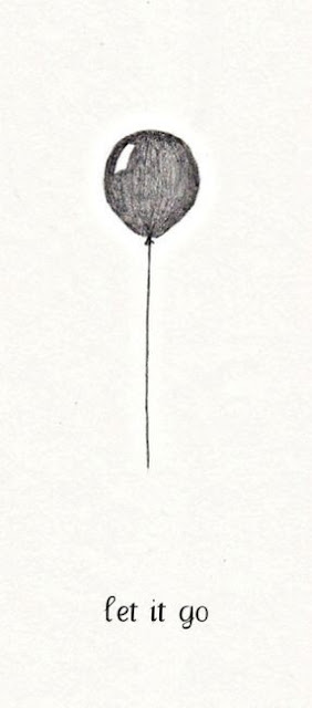 let it go with a balloon illustration