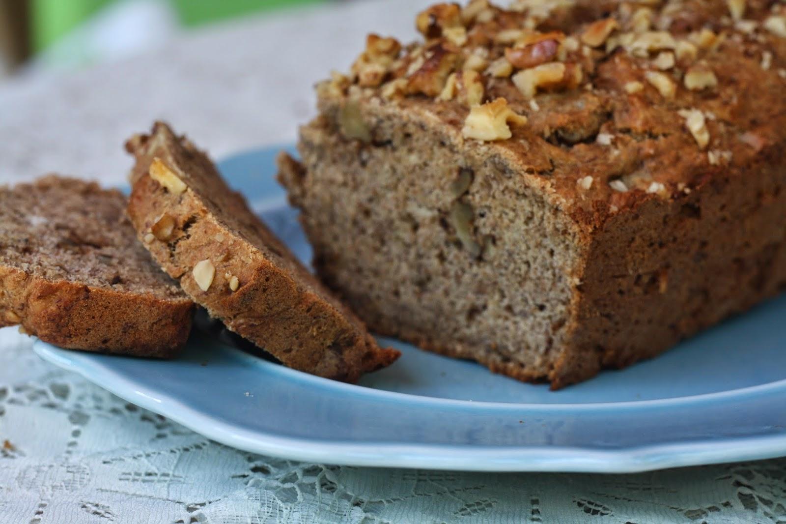 vegan banana walnut bread