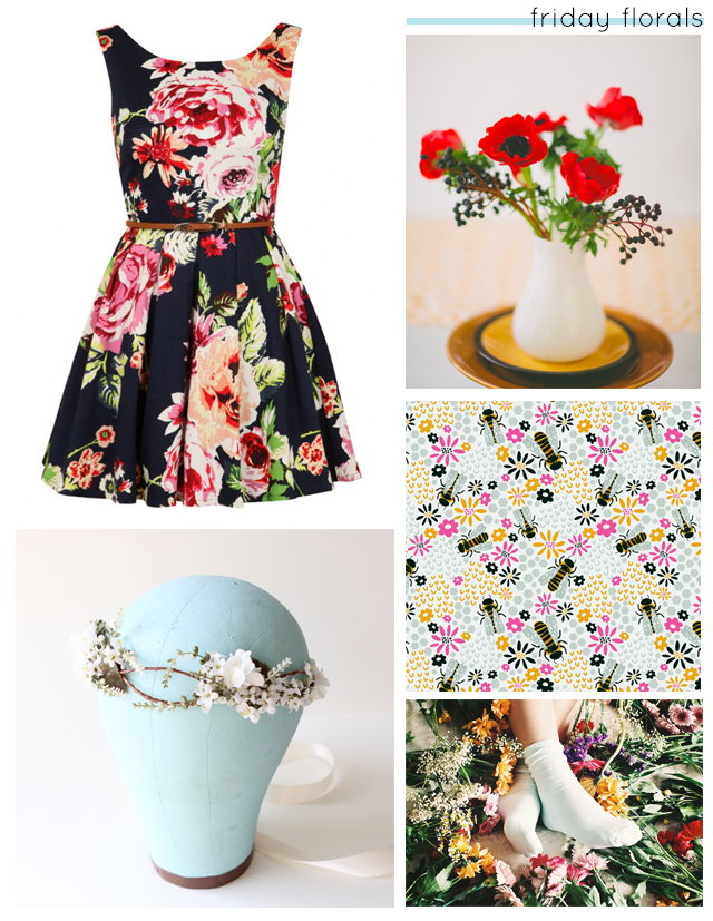 friday floral collage