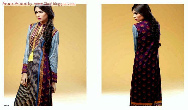 Kurti Winter-Fall Collection 2014-2015 by ZS textiles