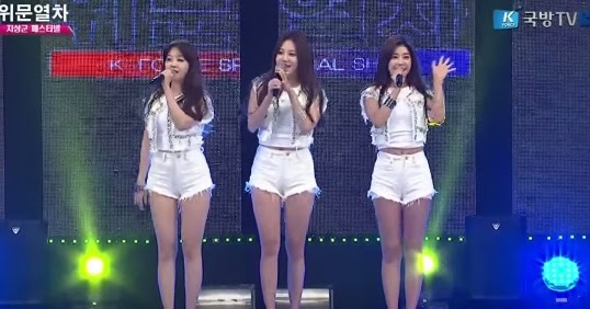 Girl's Day receive warm welcome from the soldiers!