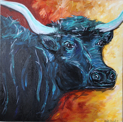 longhorn steer art
