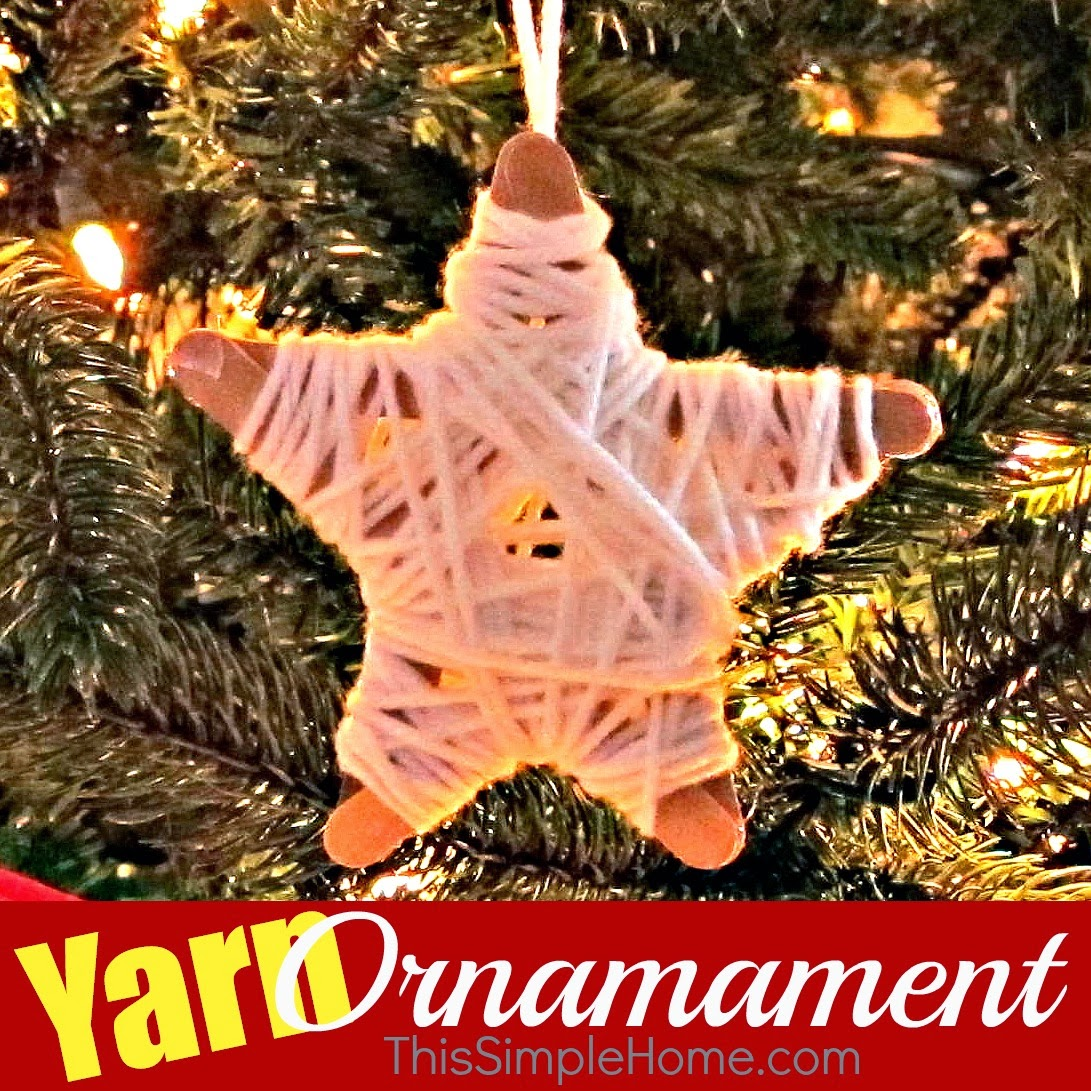 This Simple Home Star Yarn Ornament