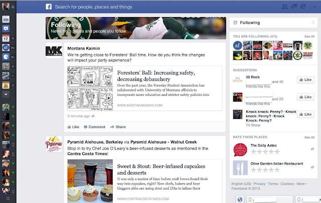 Facebook mejora el diseño del News Feed