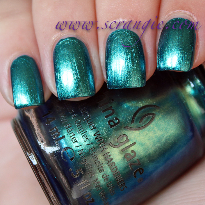 How To Polish Chrome >> Scrangie: China Glaze New Bohemian Luster Chrome Collection Fall 2012 Swatches and Review