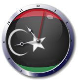 علم ليبيا  Libya Flag clock