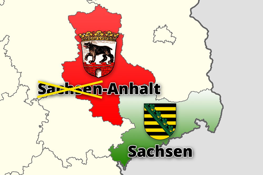 Saxony-Anhalt its name to Anhalt, to avoid being associated with Saxony