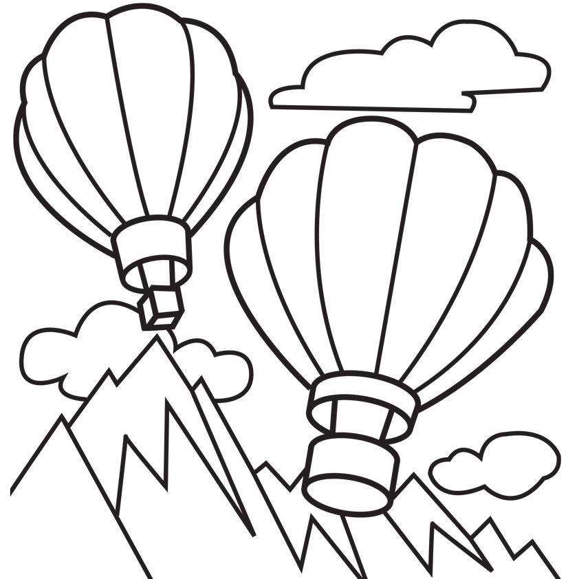 Many Kids Love Balloon So It Would Be Interesting If You Give Your Coloring Pages