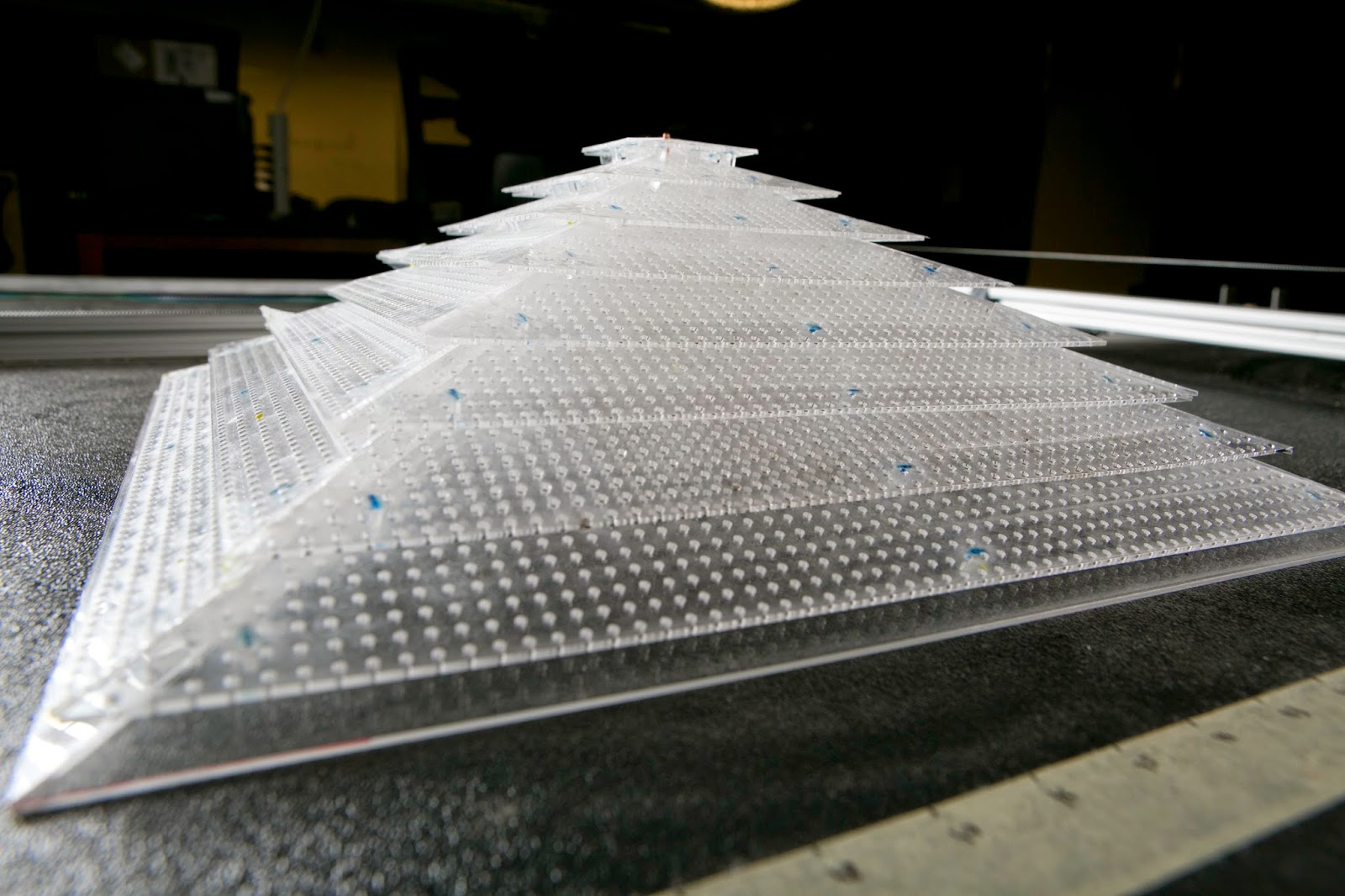 Photograph of acoustic cloaking device