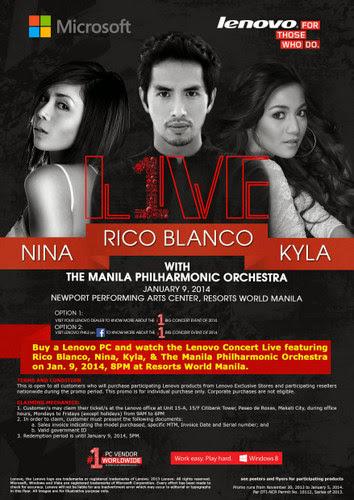 Nina, Rico Blanco,Kyla, Lenovo Concert Live,Concert,Lenovo Philippine, 1 Big Concert,Manila Philharmonic Orchestra,esorts World Manila,