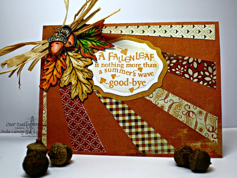 ODBD, Autumn Blessings, Elegant Oval dies, designer Linda Carson