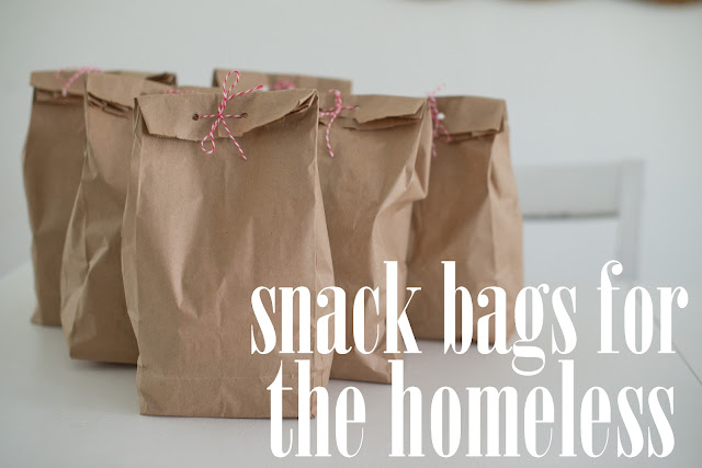 Snack bags for the homeless