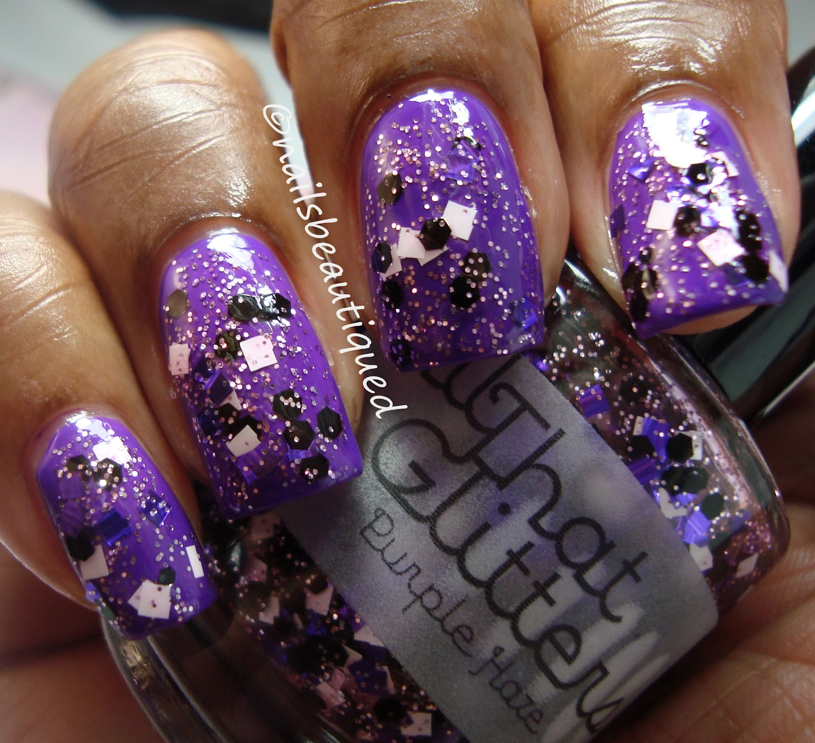 Light Purple Stiletto Nails All that glitters purple hazeLight Purple Stiletto Nails