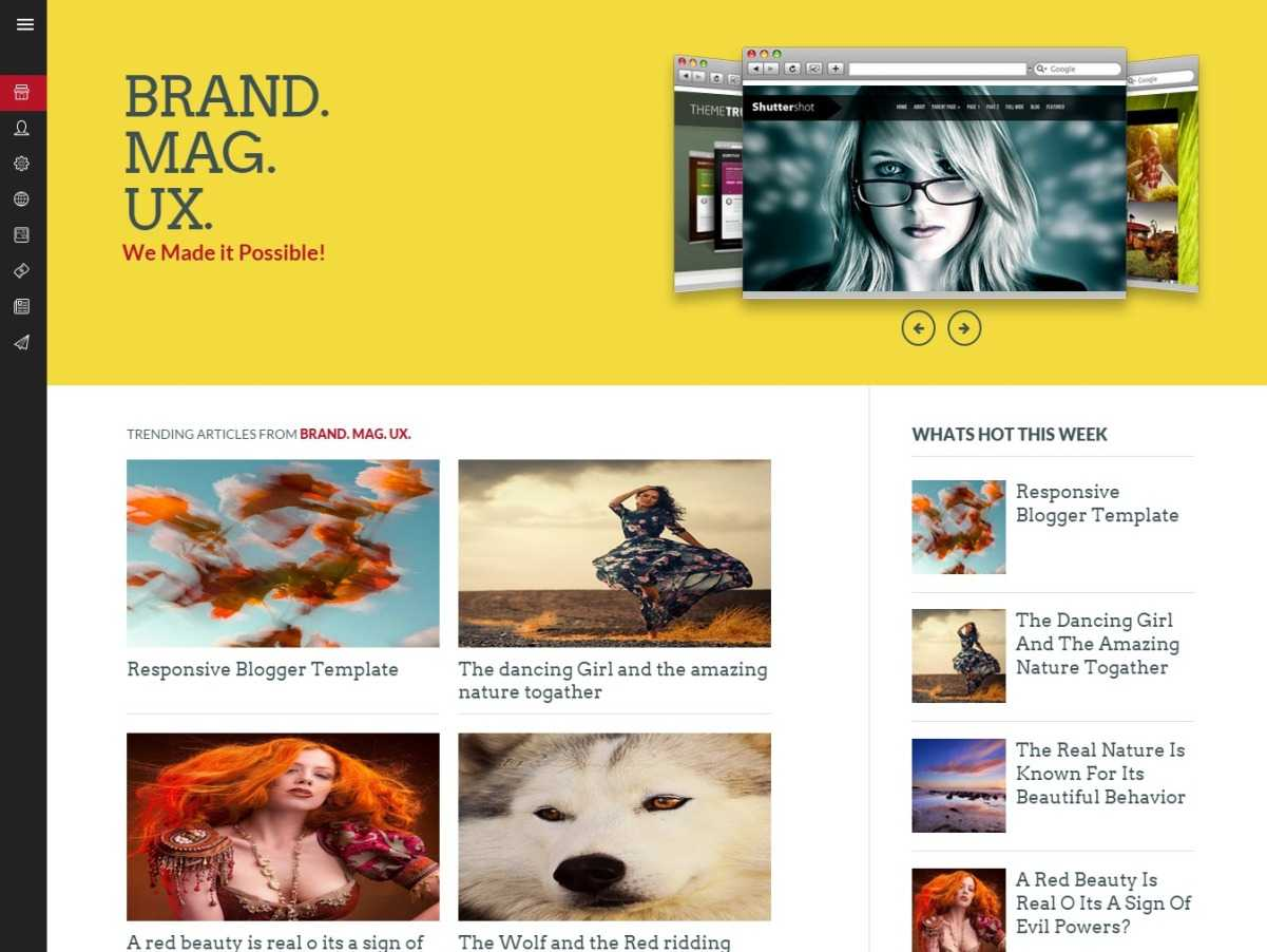 Brand Max UX Magazine Blogger Template
