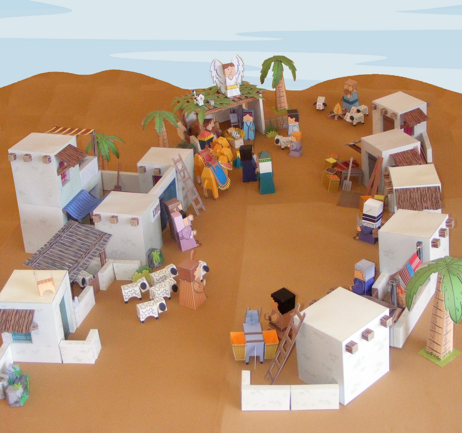 My little house bible paper toys bethlehem town for Projects of houses