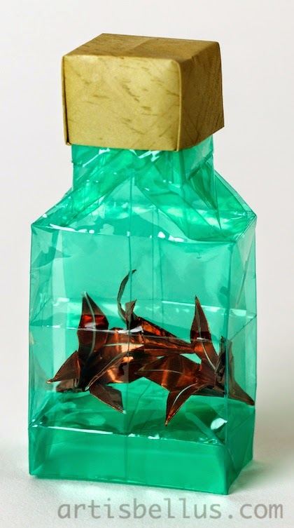 Origami Decorations: Lilies in a bottle