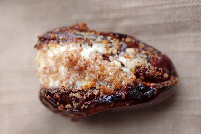 Dates Stuffed with Goat Cheese