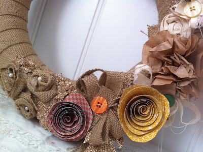 DIY Autumn Recycled Paper Wreath     Vintage Celebrations