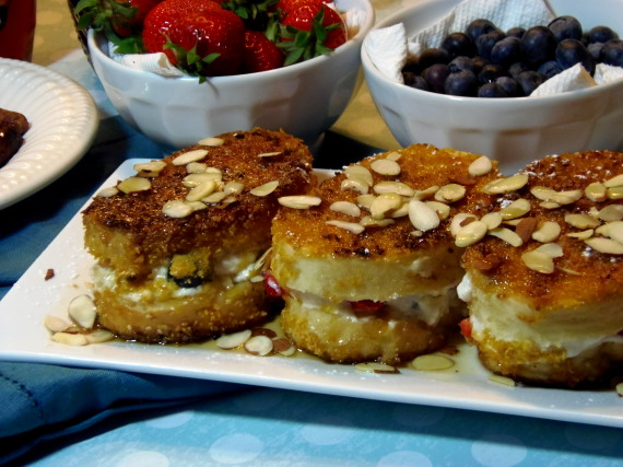 Stuffed Red, White And Blue French Toast Recipe