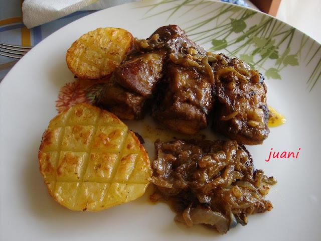 Las cosillas que hago costilla de cerdo al horno con patatas - Patatas con costillas de cerdo ...