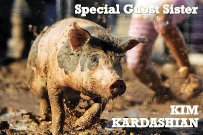Kim Kardashian mud wrestling mudwrestling